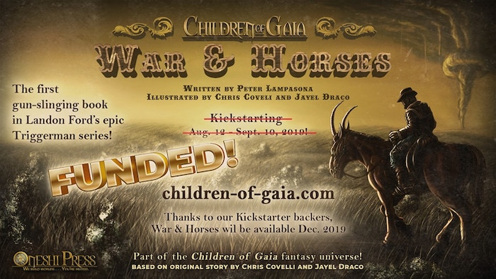 A weird western illustrated novel from the epic sci-fi fantasy series, Children of Gaia.