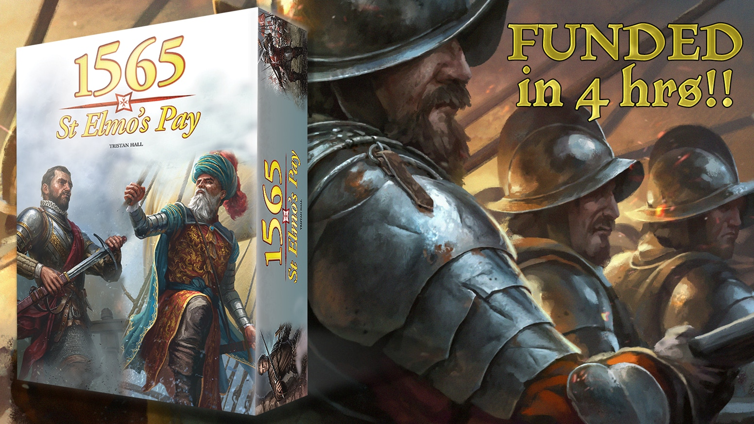 Relive the 1565 Siege of Malta 'the Greatest Siege in History' in this gorgeous 1-2 player, 30-40 minute, non-collectable card game