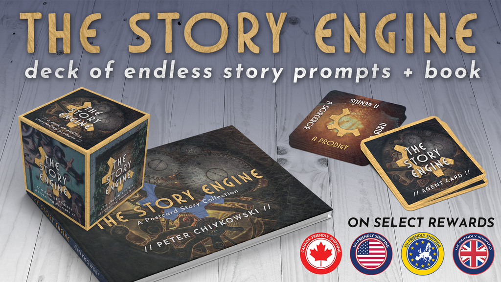 THE STORY ENGINE deck of endless storytelling prompts + book project video thumbnail