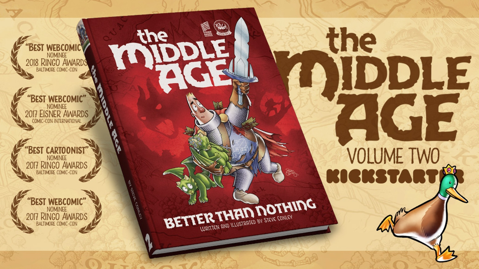 A campaign to bring the second volume of the acclaimed fantasy webcomic THE MIDDLE AGE to print as a beautiful, hardcover book!