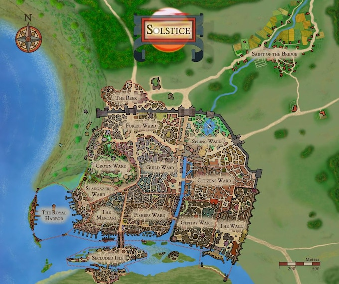 City of Solstice: A Setting for OSR Fantasy Campaigns