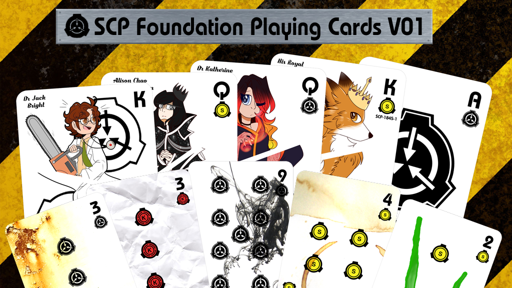 Project image for SCP Foundation PLAYING CARDS V01 - Secure Contain Protect
