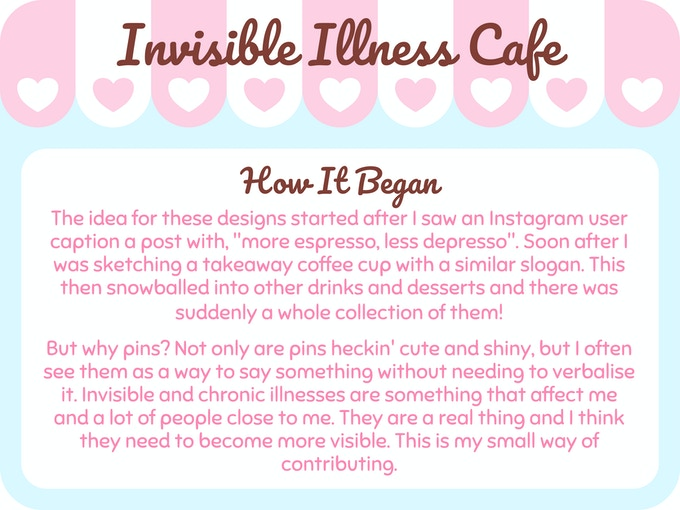 Invisible Illness Cafe - Enamel Pin Collection
