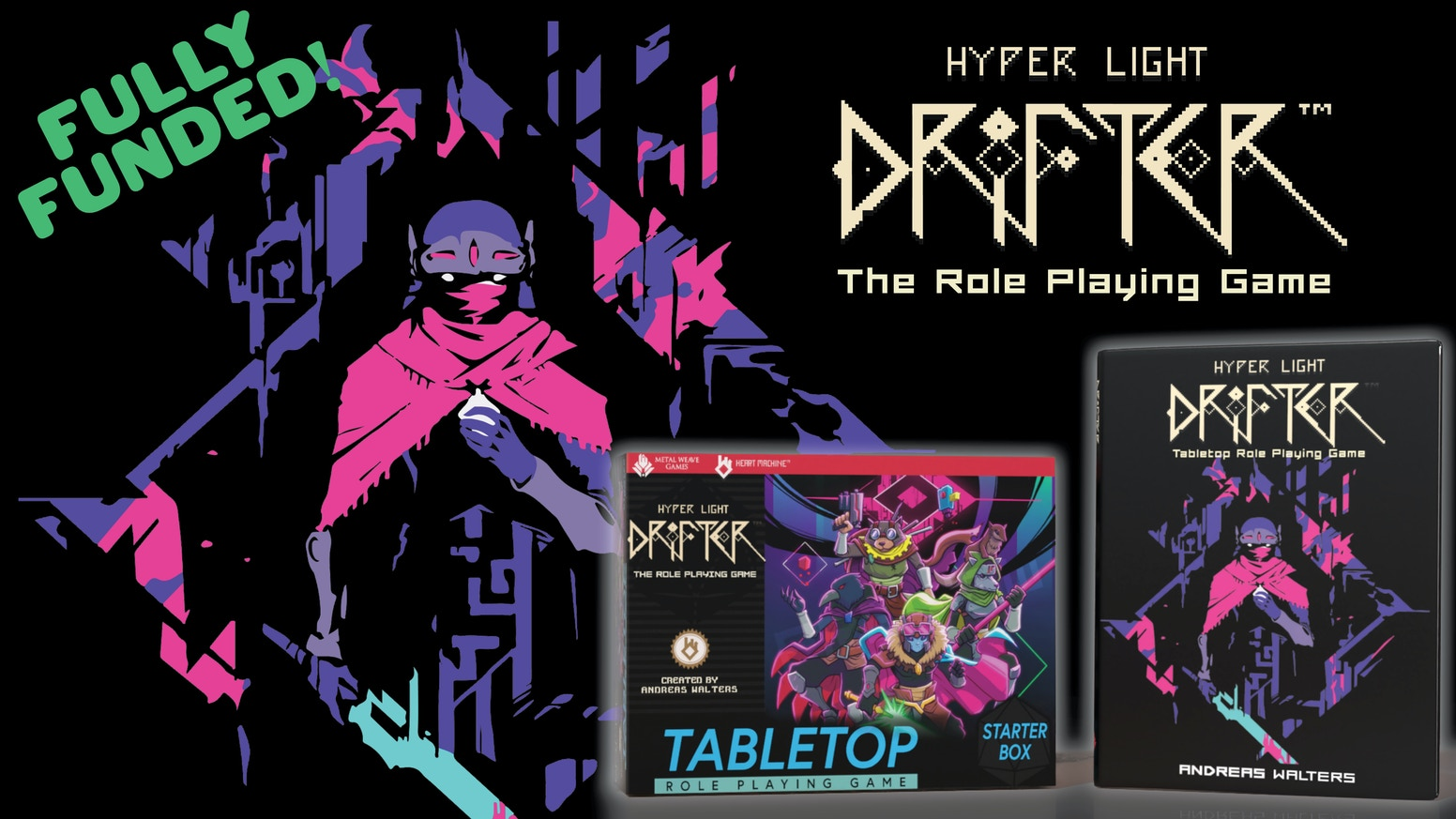 A tabletop role playing game based on the award-winning video game: Hyper Light Drifter.