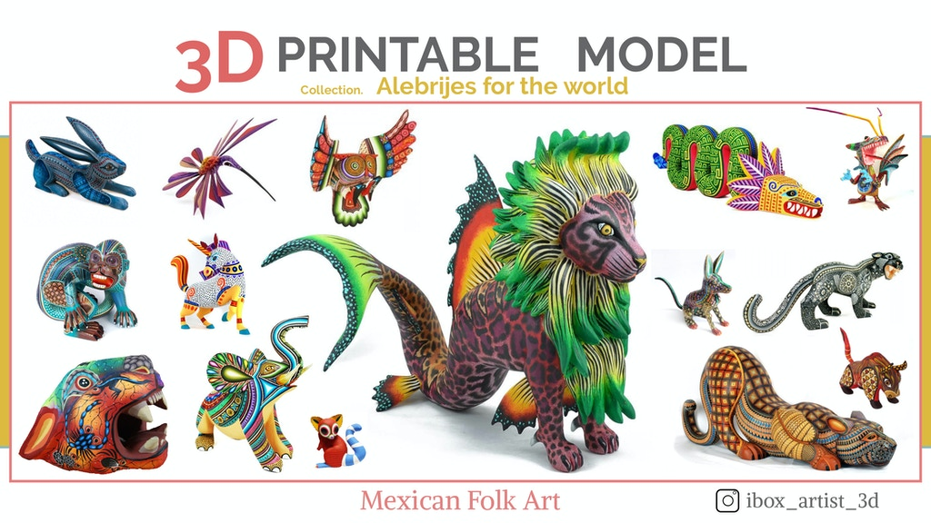 Project image for Alebrijes for the world #1 - 3D Printable Models
