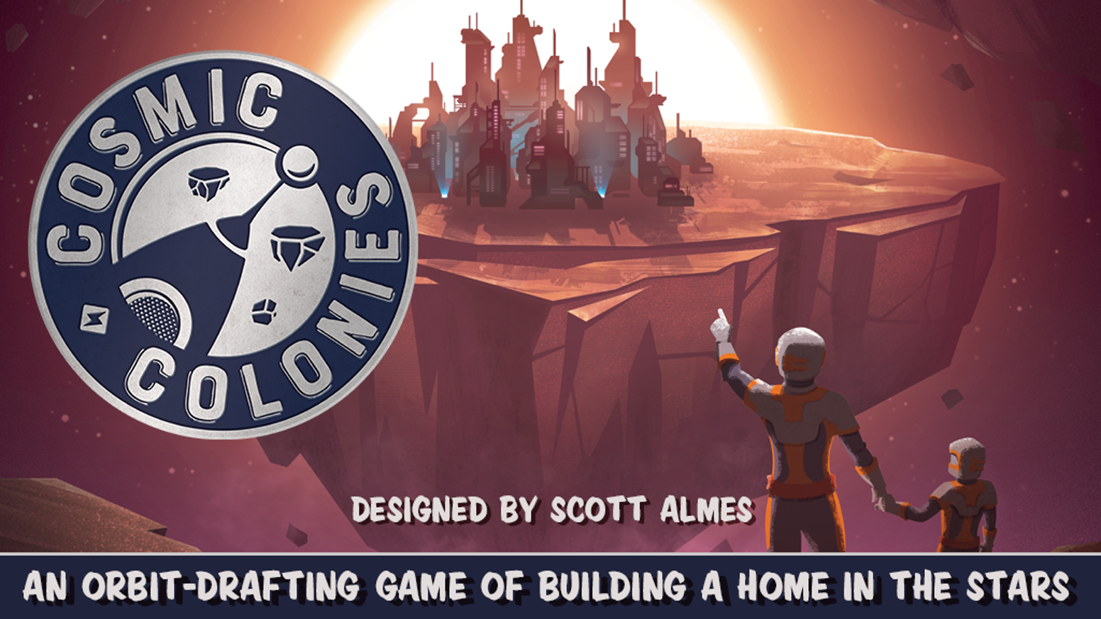 An Orbit Drafting Game of Building a Home in the Stars designed by Scott Almes.