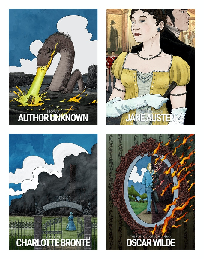 British Lit prints by Seth T. Hahne