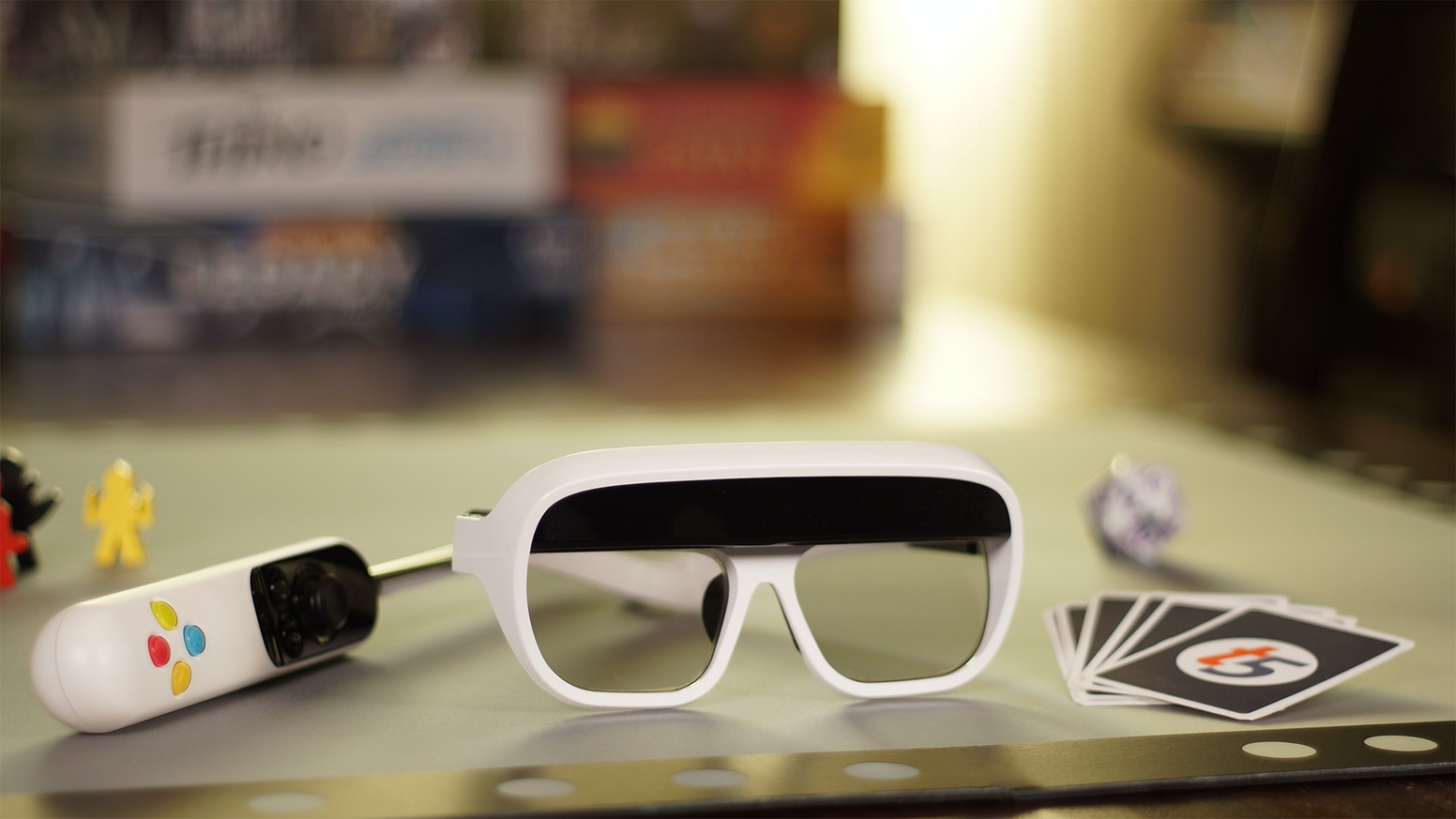 Augmented Reality glasses that open up a whole new holographic game space.