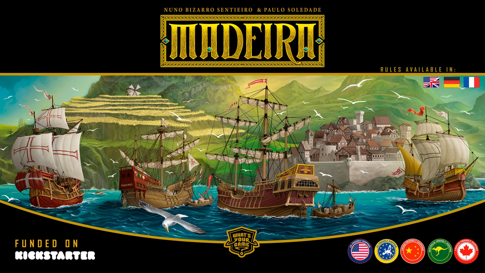 Madeira, the classic strategy game returns in an exclusive Collector's Edition Big Box +Expansion.