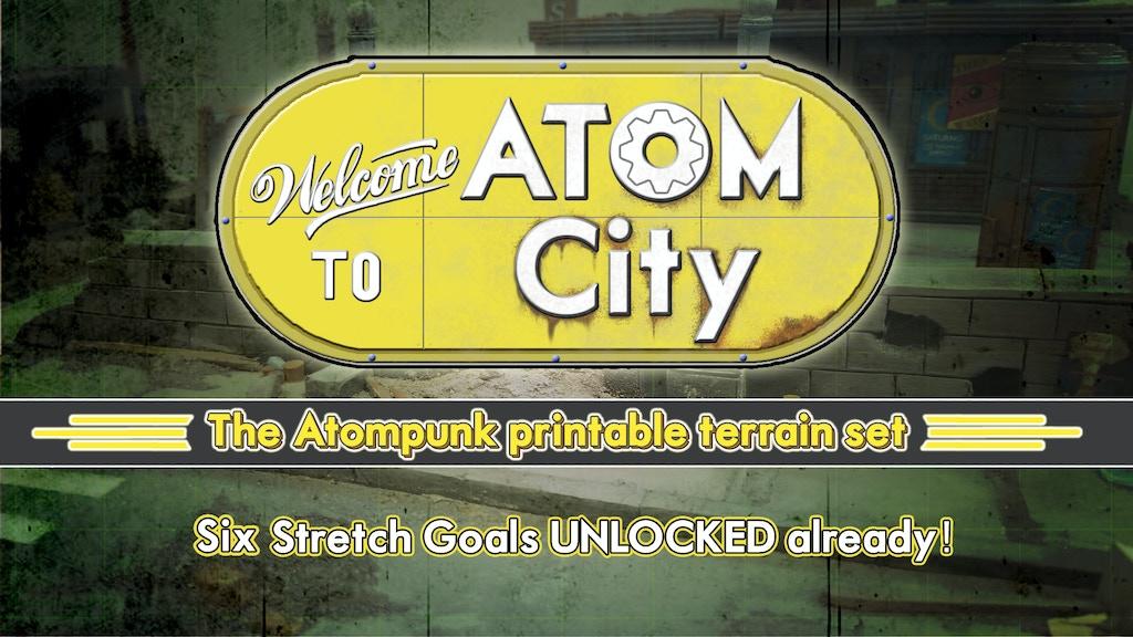 Welcome to Atom City - The Atompunk printable terrain set project video thumbnail