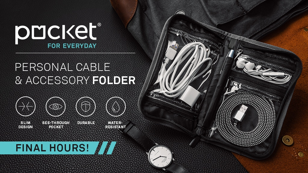 Pocket® for everyday - personal cable & accessory folder project video thumbnail