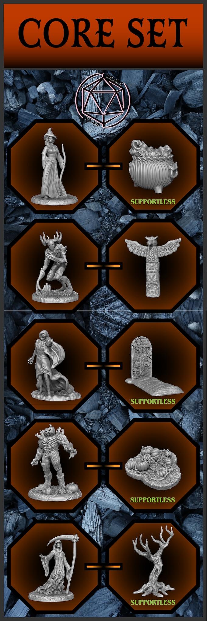 3D Printable Spooky Tabletop Miniatures