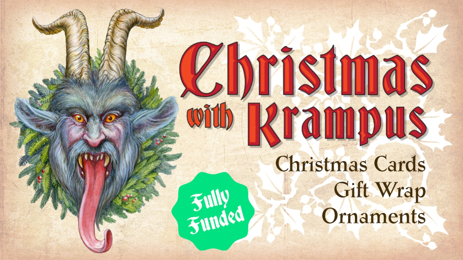 Traditionally illustrated Christmas cards, gift wrap and ornaments featuring Krampus the Christmas demon. Missed the campaign? You can still get the rewards in the Studio Wondercabinet store - follow the link below.