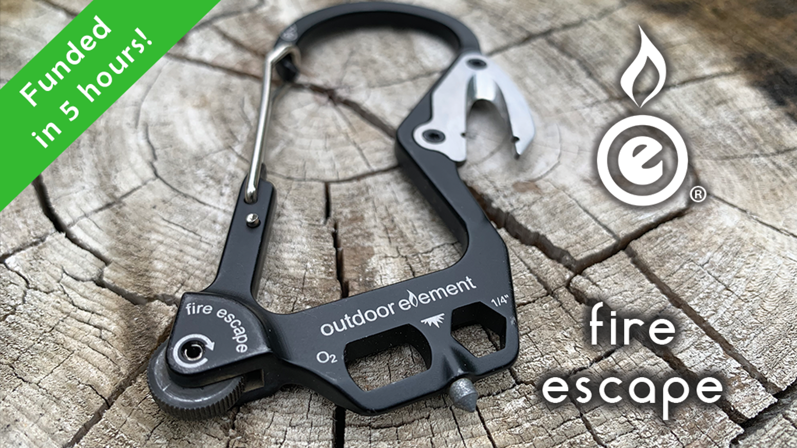 Clip it, cut it, turn it, smash it, pop it, spark it, escape it with the fire-starting multitool carabiner inspired by first-responders