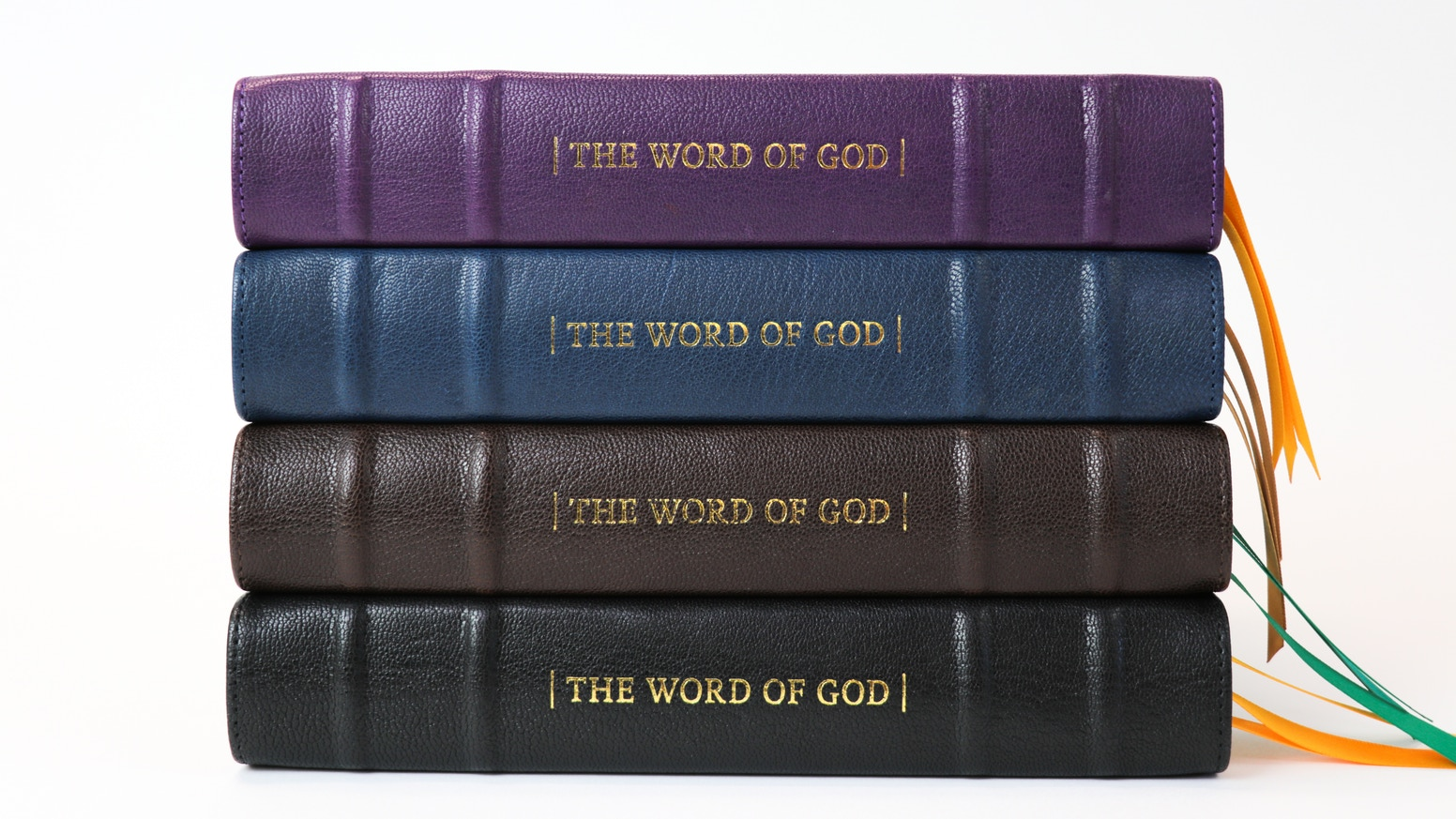 Re-discover the King James Bible bound by hand using goatskin leather. New layout design with defined archaic terms and illustrations.