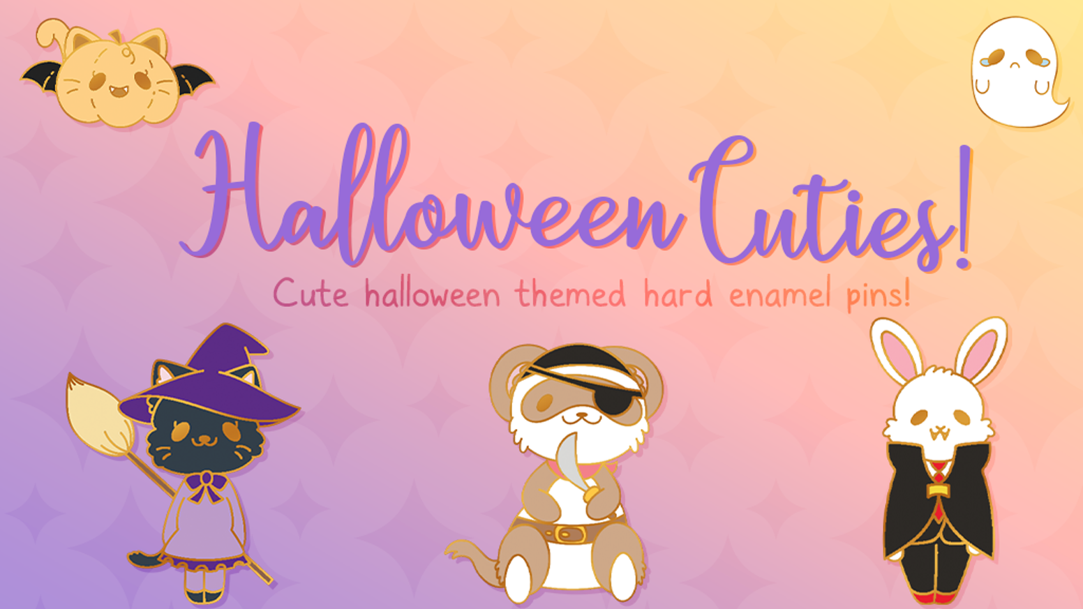 Cute hard enamel halloween inspired pins! All designs are original to this collection!
