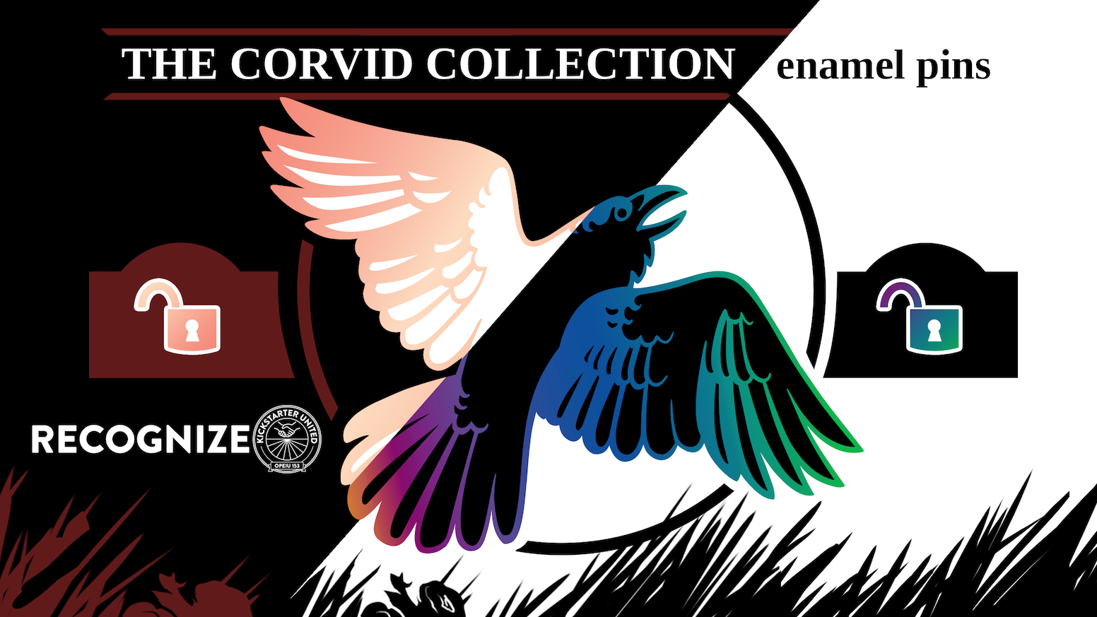 Iridescent enamel pins, courtesy of your favorite bird-themed shop, where we #RecognizeKSRU