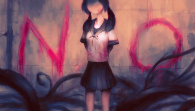 """Yandere NO!"" Illustrated T-Shirt"