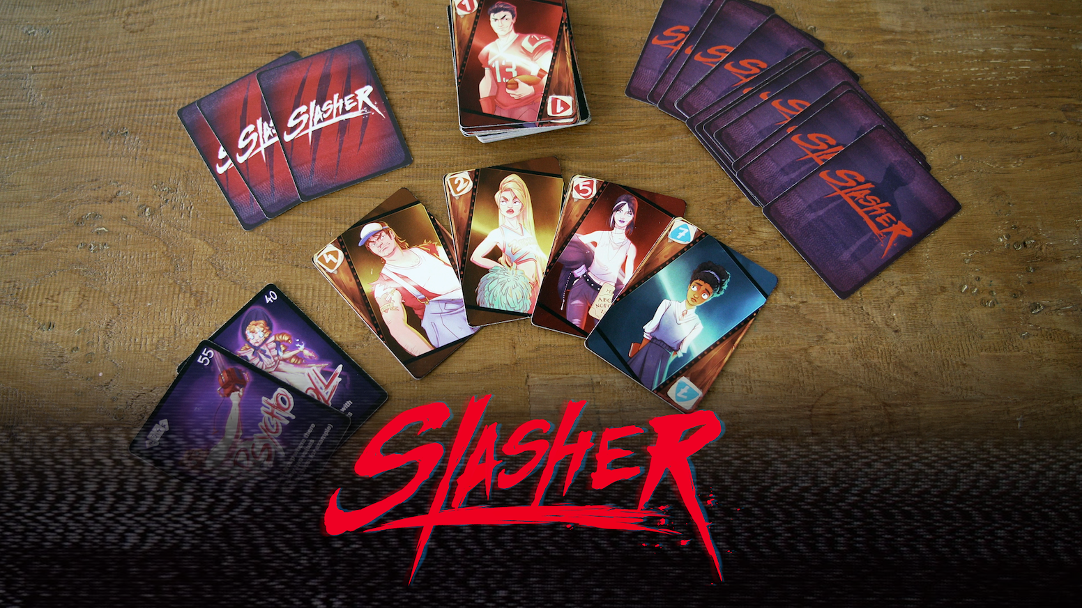 Play the good guys AND the Villains in this casual card game with social deduction elements inspired by 80s horror movies