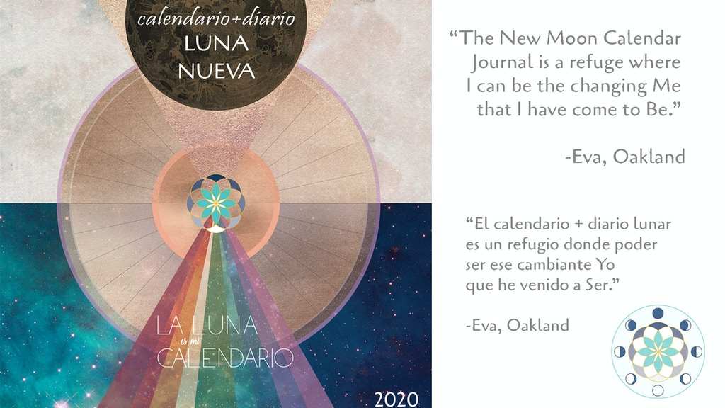 New Moon Calendar Journal Spanish Edition project video thumbnail
