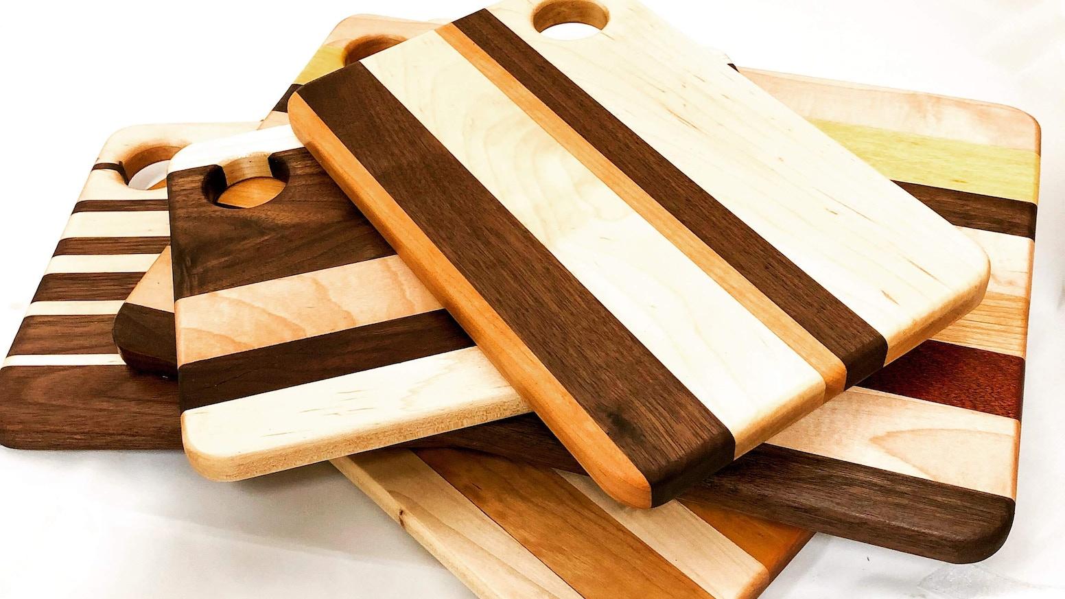 Handmade Hard Wood Cutting Boards With