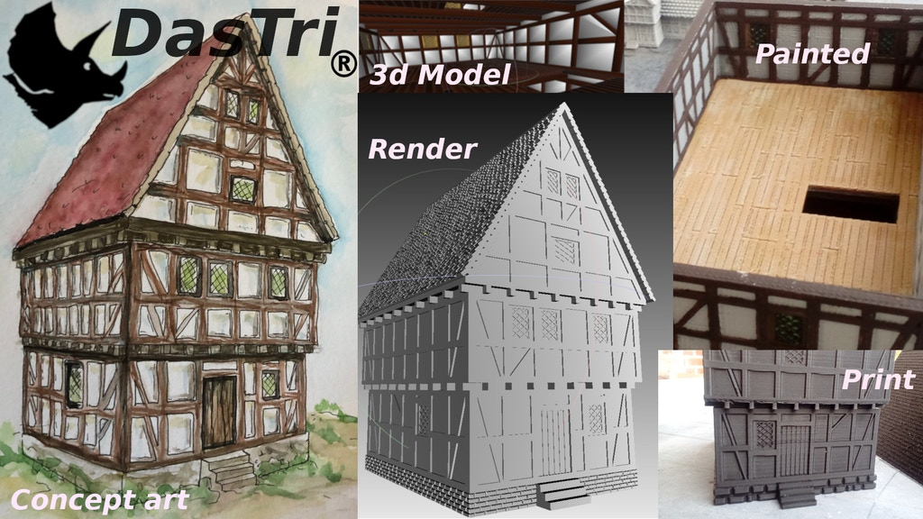 Project image for Balkenheim - 100 printable medieval houses (STL files)