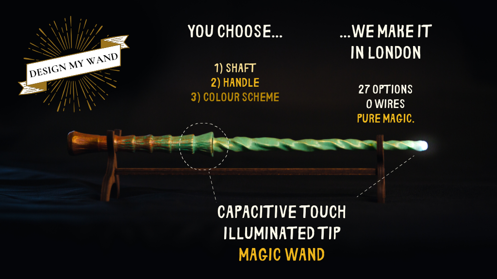 Design My Wand- Customisable, capacitive touch magic wand project video thumbnail