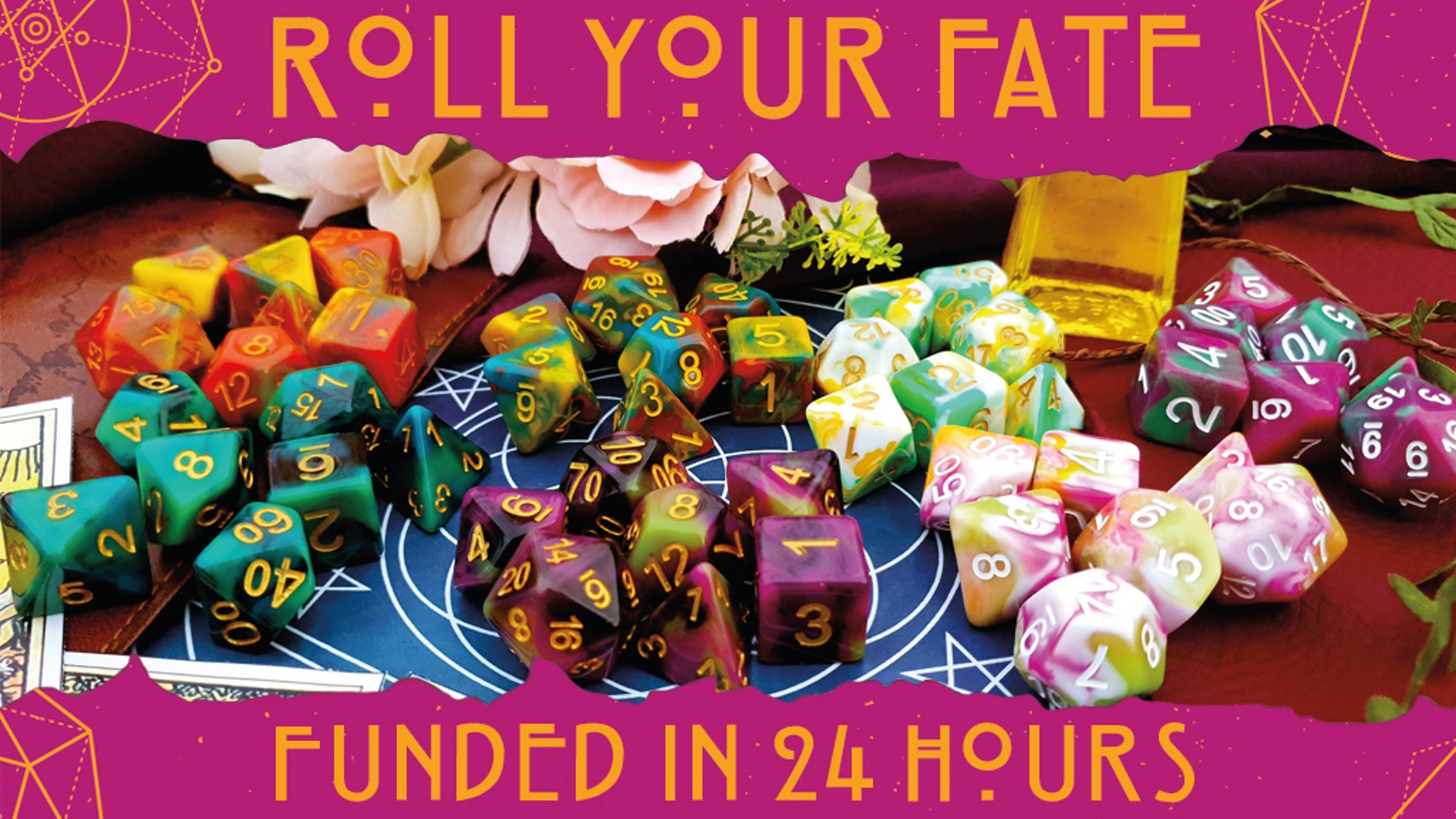 Dice of fate, fortune & mystery.