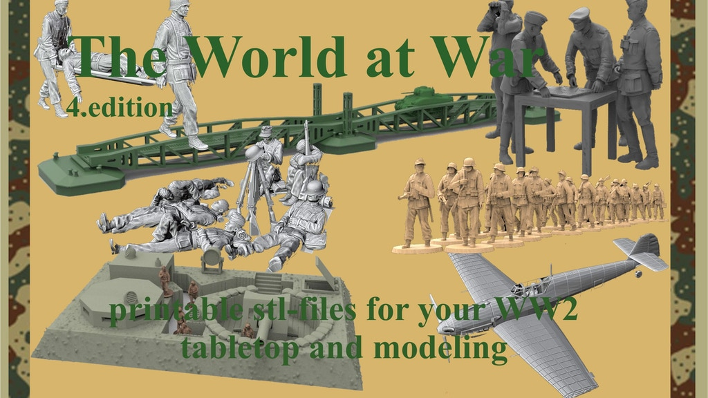 The World at War Figures, Buildings, Accessories printable project video thumbnail
