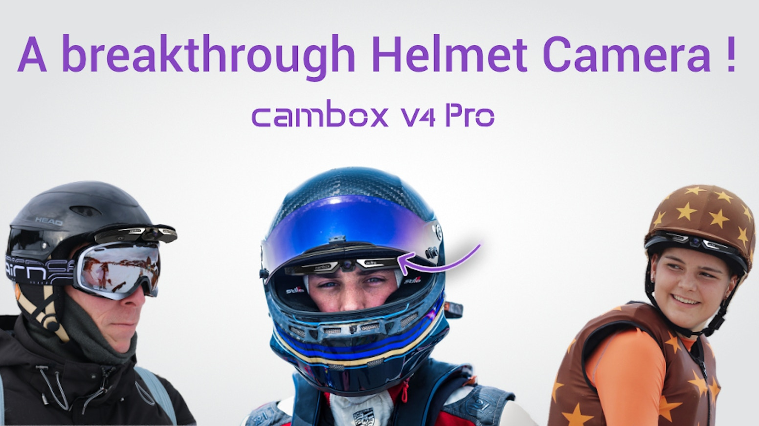 The first 4K action camera fastened under your visor. Suitable with all helmets & peaks.  Capture & Share all your footages.
