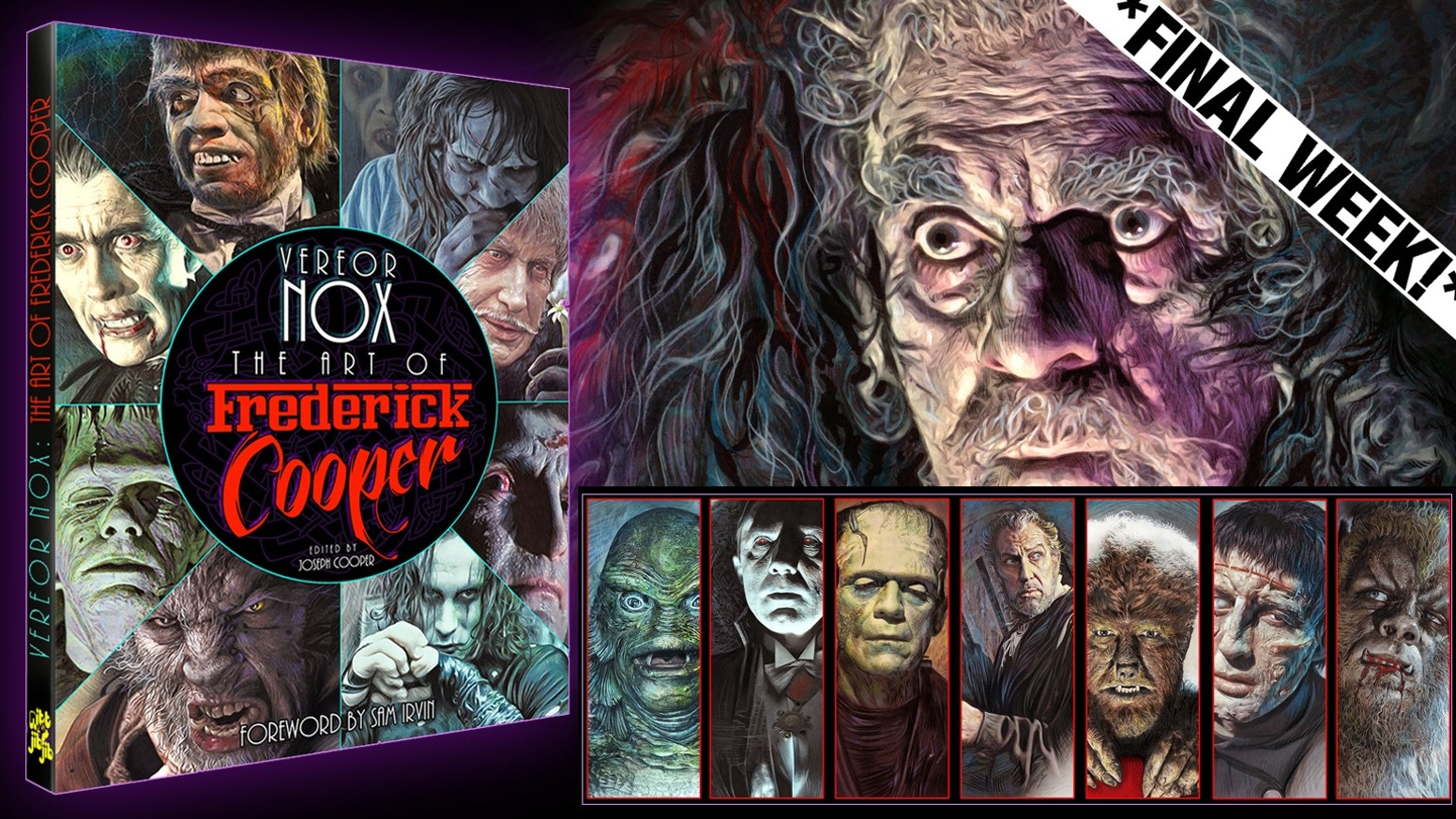 A classic horror art book by Frederick Cooper featuring commentary on his influences and a breakdown of his technique .