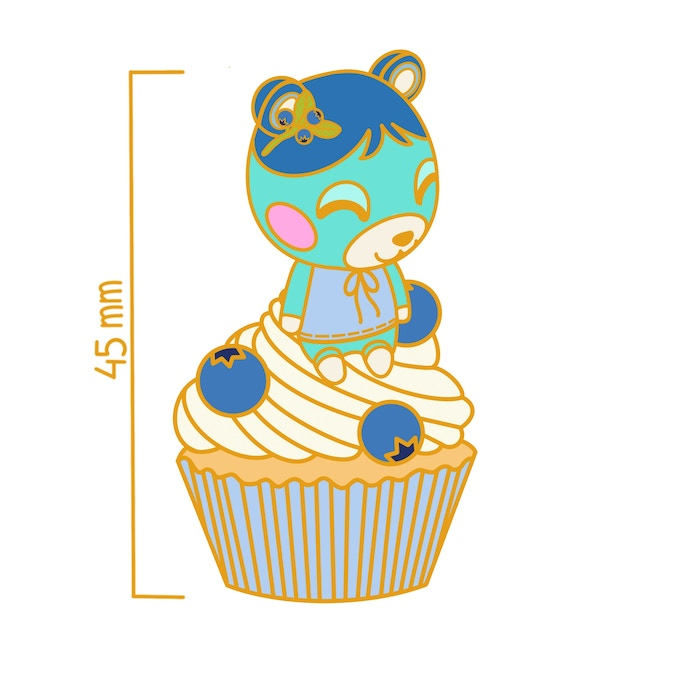 🧁 Animal Crossing Cupcake Collection Enamel Pins