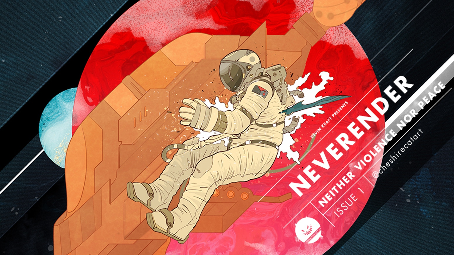 Neverender is a comic about an earthborn punk and his journey into a space dueling ring.