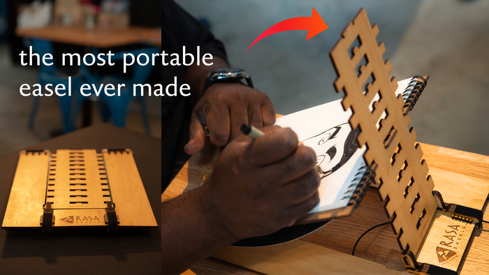 Our portable easel is now ready to serve creative nomads everywhere! Thanks to our backers, we are now able to go to production.
