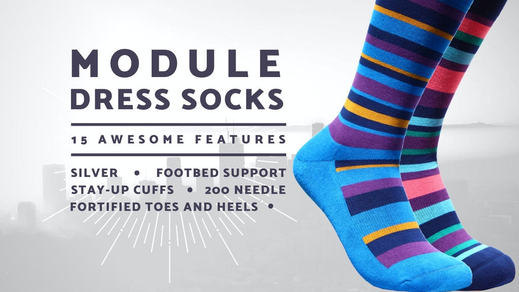 MODULE™ | Ultra-High Tech Modern Dress Socks w/ 15 Features project video thumbnail