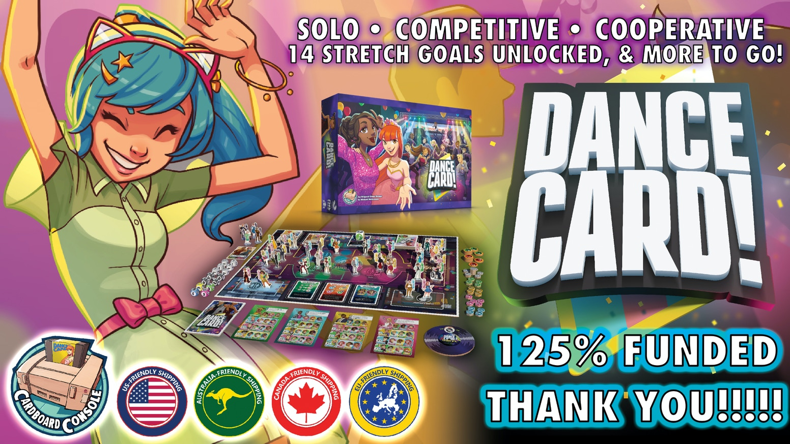 A refreshing new board game of dance floor strategy!