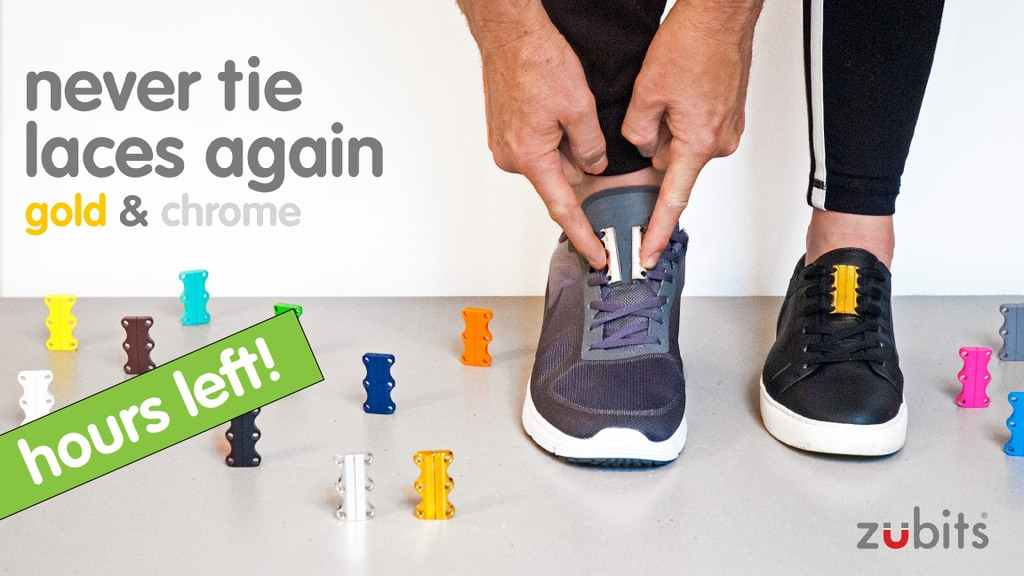 ZUBITS magnetic lacing - Metallics - Never tie laces again! project video thumbnail