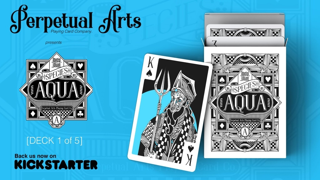 Project image for Aqua Species Playing Cards by Perpetual Arts
