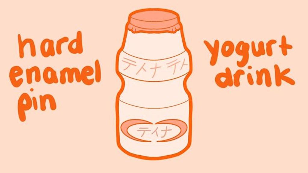 Project image for YOGURT DRINK HARD ENAMEL PIN w/ free shipping
