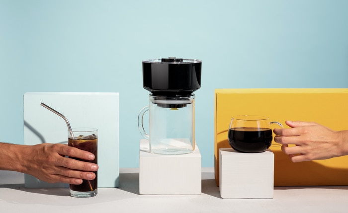 FrankOne with VacTec™ makes Cold Brew in 4 minutes and coffee in 30 seconds.