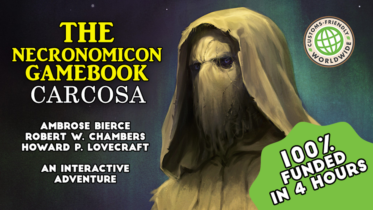 A faithful gamebook adaptation from Bierce, Chambers and Lovecraft's horror classics. [ITA] Un fedele adattamento a librogioco dei racconti horror di Bierce, Chambers e Lovecraft.