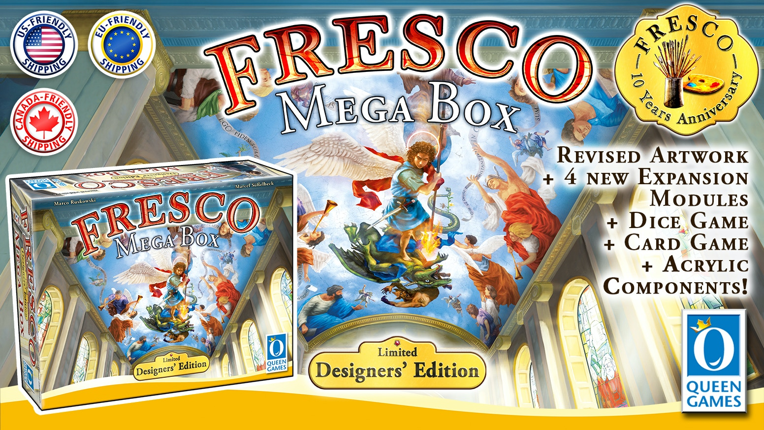 ALL of FRESCO including 4 brand new modules, Fresco - The Card Game and Fresco - The Dice Game!