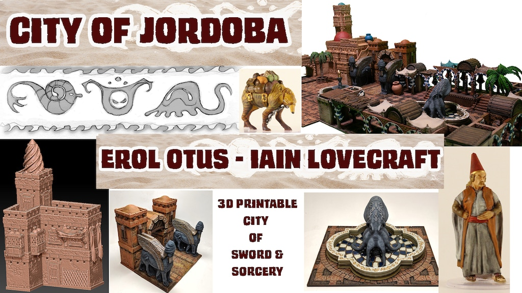 Project image for City of Jordoba: 3D Printable Terrain by Otus and Lovecraft