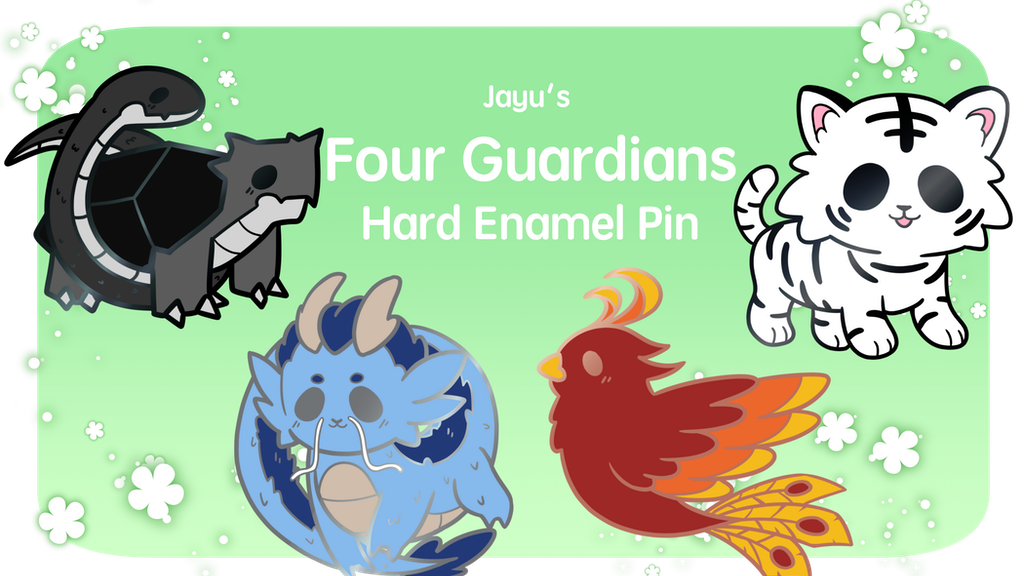 Project image for Jayu's Four Guardian Hard Enamel Pin Series