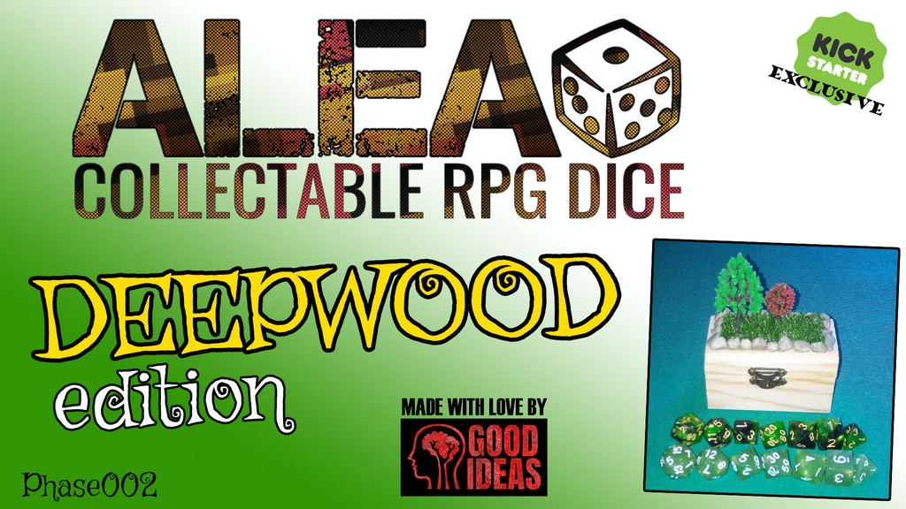 ALEA! Collectable RPG Dice: DEEPWOOD edition (Phase 02) project video thumbnail