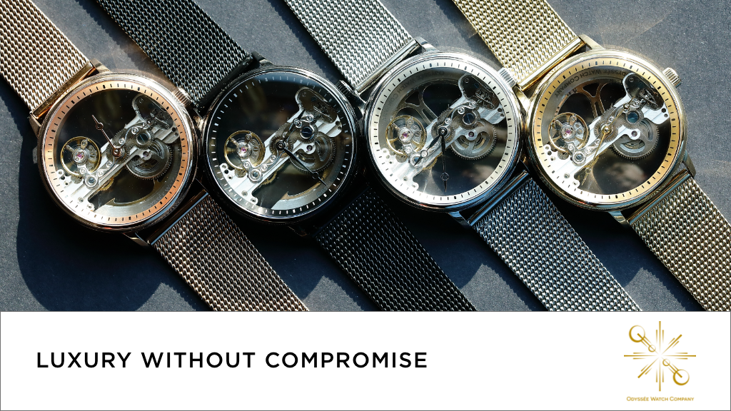 Luxurious, affordable, mechanical skeleton design watches project video thumbnail