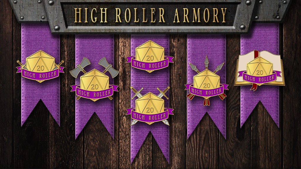 Project image for High Roller Armory d20 Dice Pin Collection