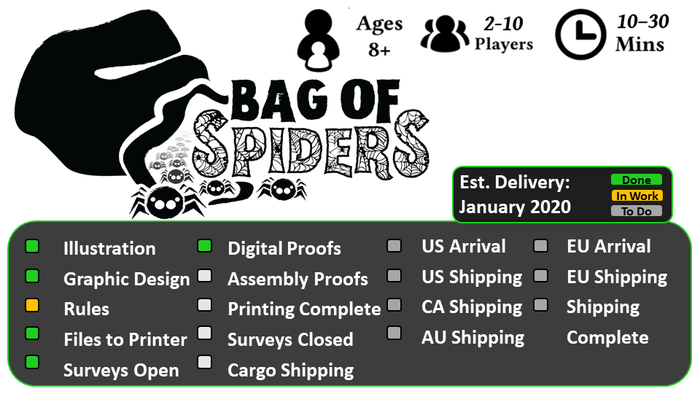 It's a bag of spiders! it's also 8 fun and fantastic games to play with 1-9 of your friends and enemies!