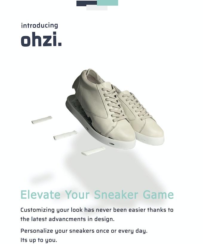 ついつい靴底がすり減ったスニーカーを延々とはき続けてしまう貴方へ。靴底が交換できるスニーカー「ohzi.」