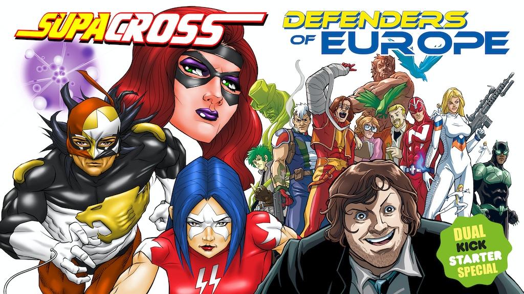 """SUPACROSS / DEFENDERS OF EUROPE"" Dual Kickstarter project video thumbnail"